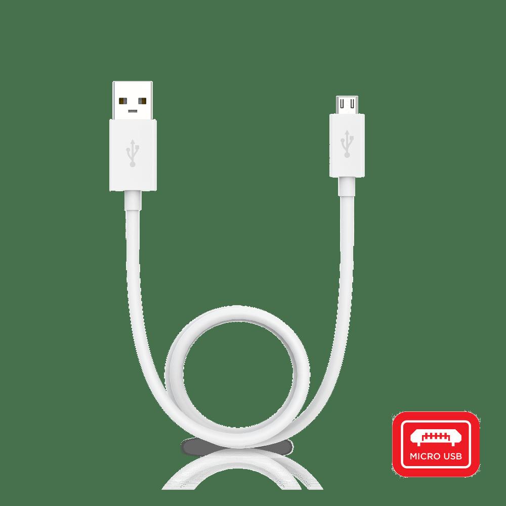 USB-A to Micro-USB-White